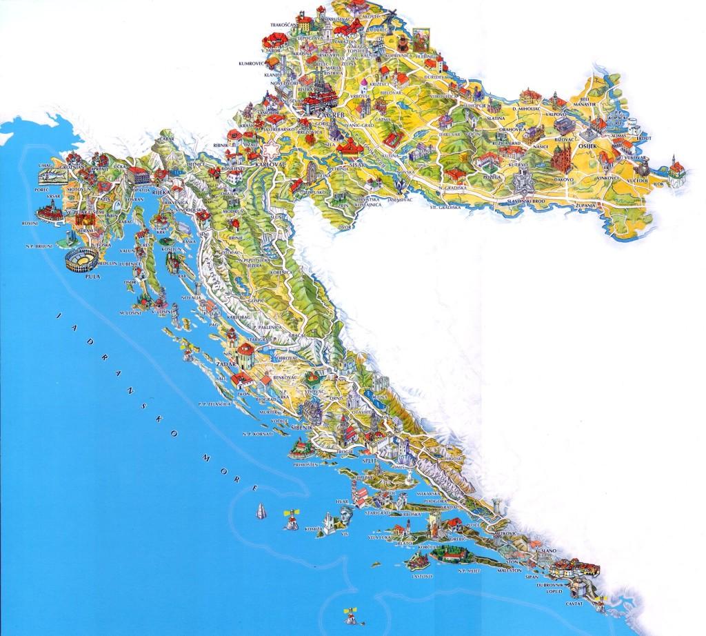 Mappa Turistico di Croazia